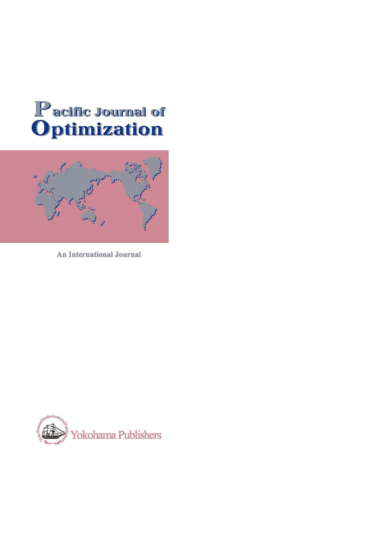 Pacific Journal of Optimization